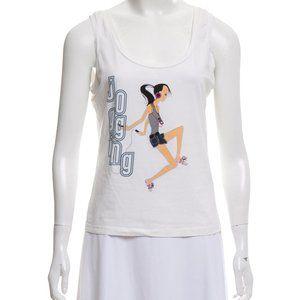 WEEKEND MaxMara White Summer T-shirts Tank L